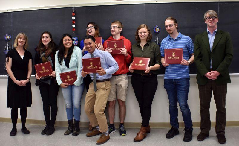 UW-Madison graduating seniors in Linguistics 2018