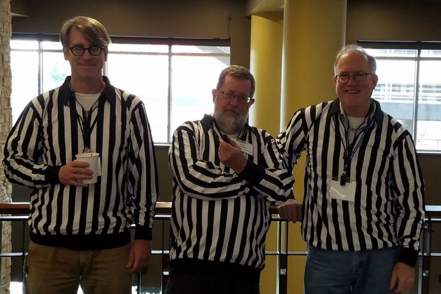 Professors Raimy, Salmons, and Purnell at NWAV 46