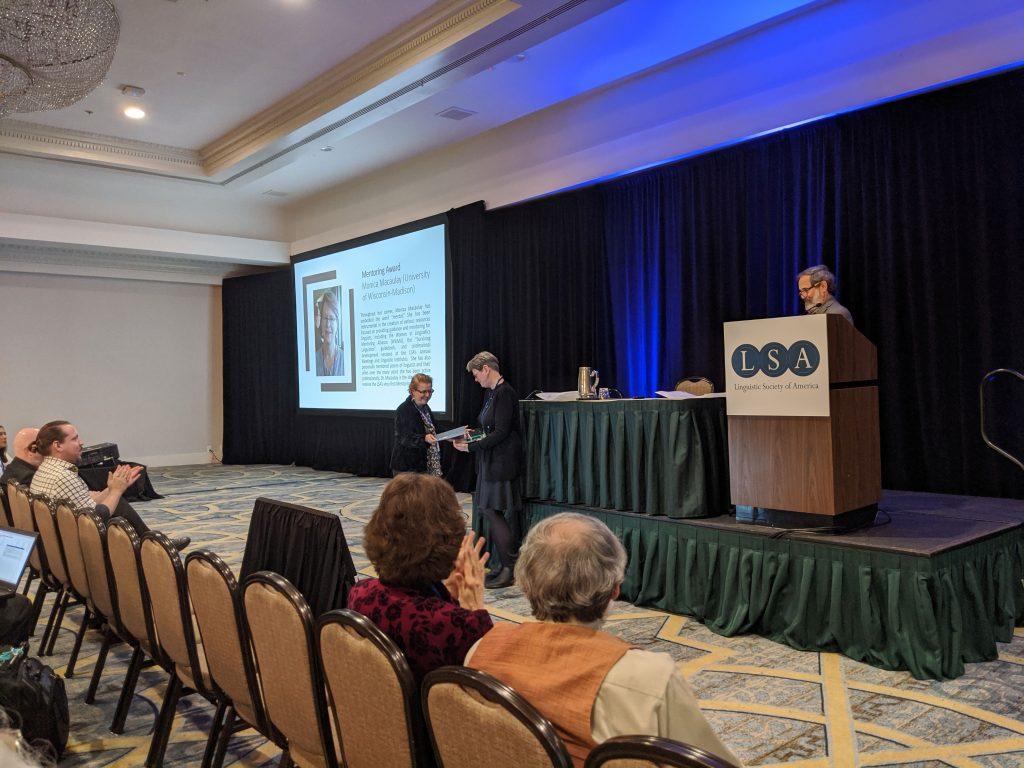 Professor Macaulay receives LSA Mentor award